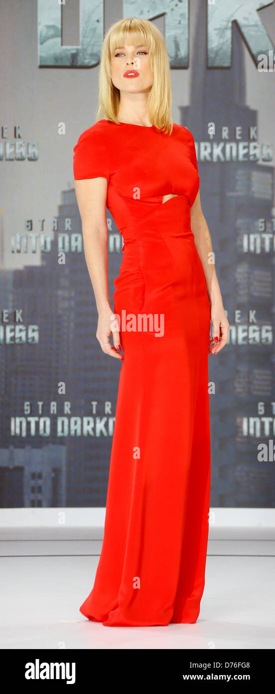 Berlin, Germany, 29 April 2013. Actrice Alice Eve (USA) poses for the press prior to the premiere of the film 'Star - Stock Image
