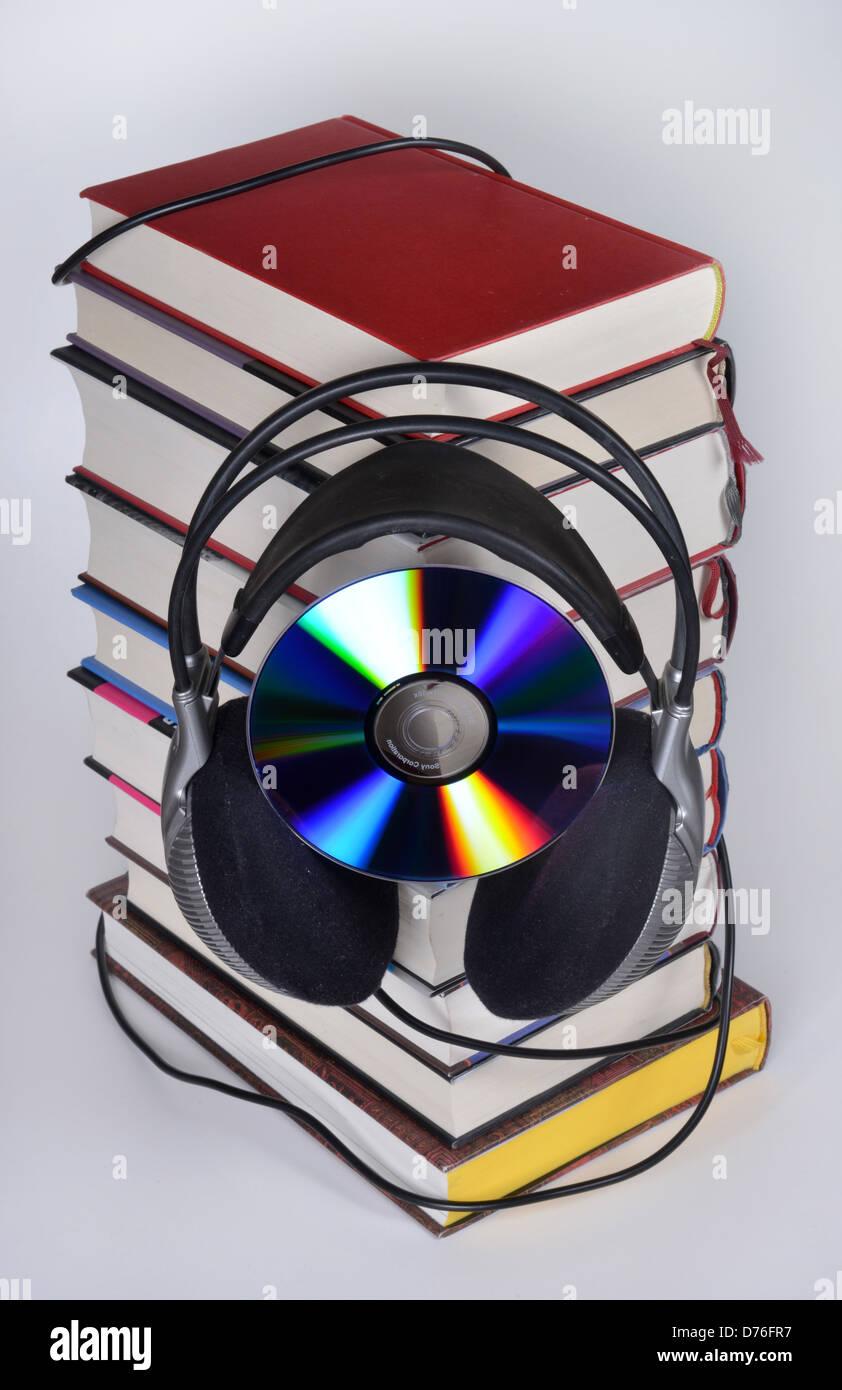 Symbolic picture audio book - Stock Image