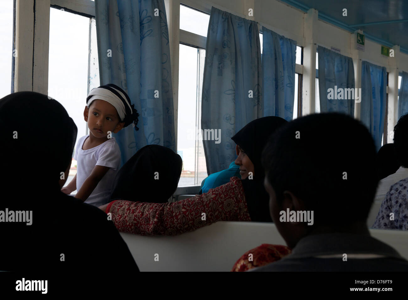 ferry ride from Male to Villingili - Stock Image