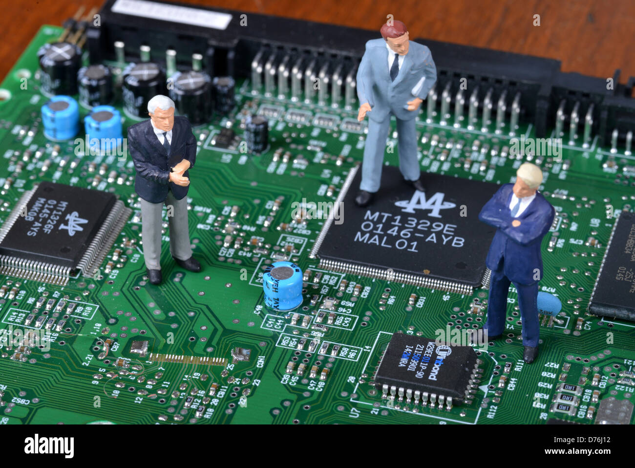 Electronics to platinum leading record Businessmen - Stock Image