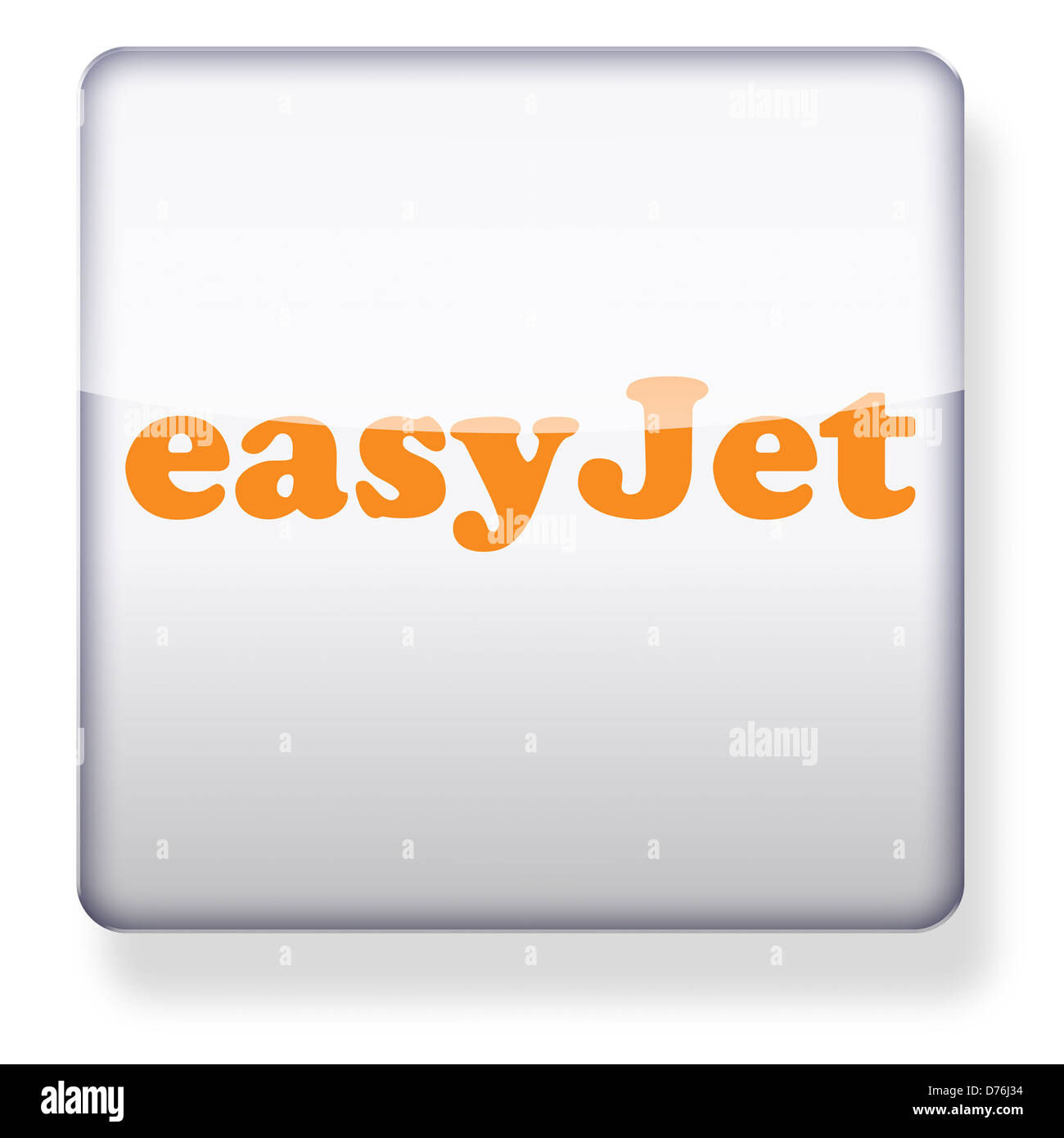 easyjet logo as an app icon. Clipping path included. - Stock Image