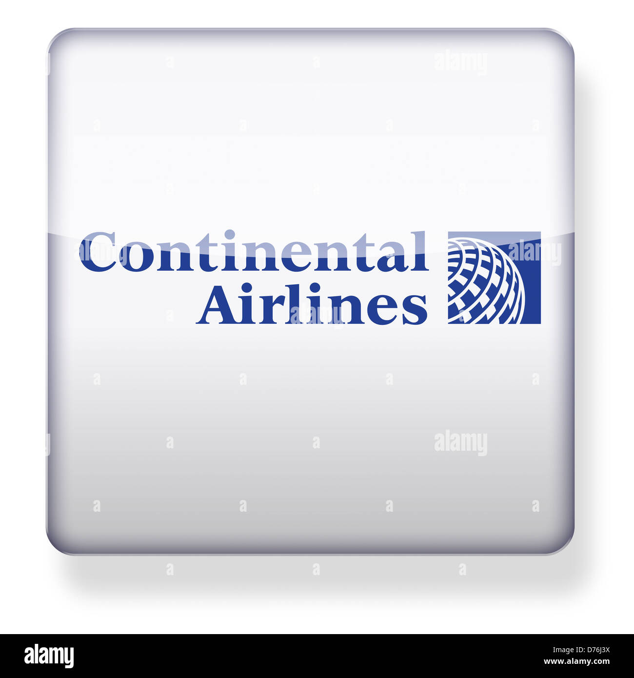 Continental Airlines logo as an app icon. Clipping path included. - Stock Image