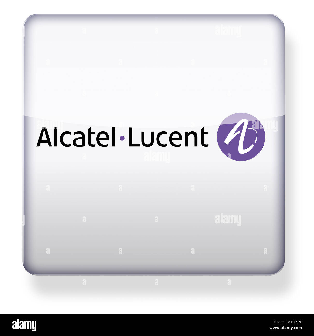 Alcatel Lucent logo as an app icon. Clipping path included. - Stock Image