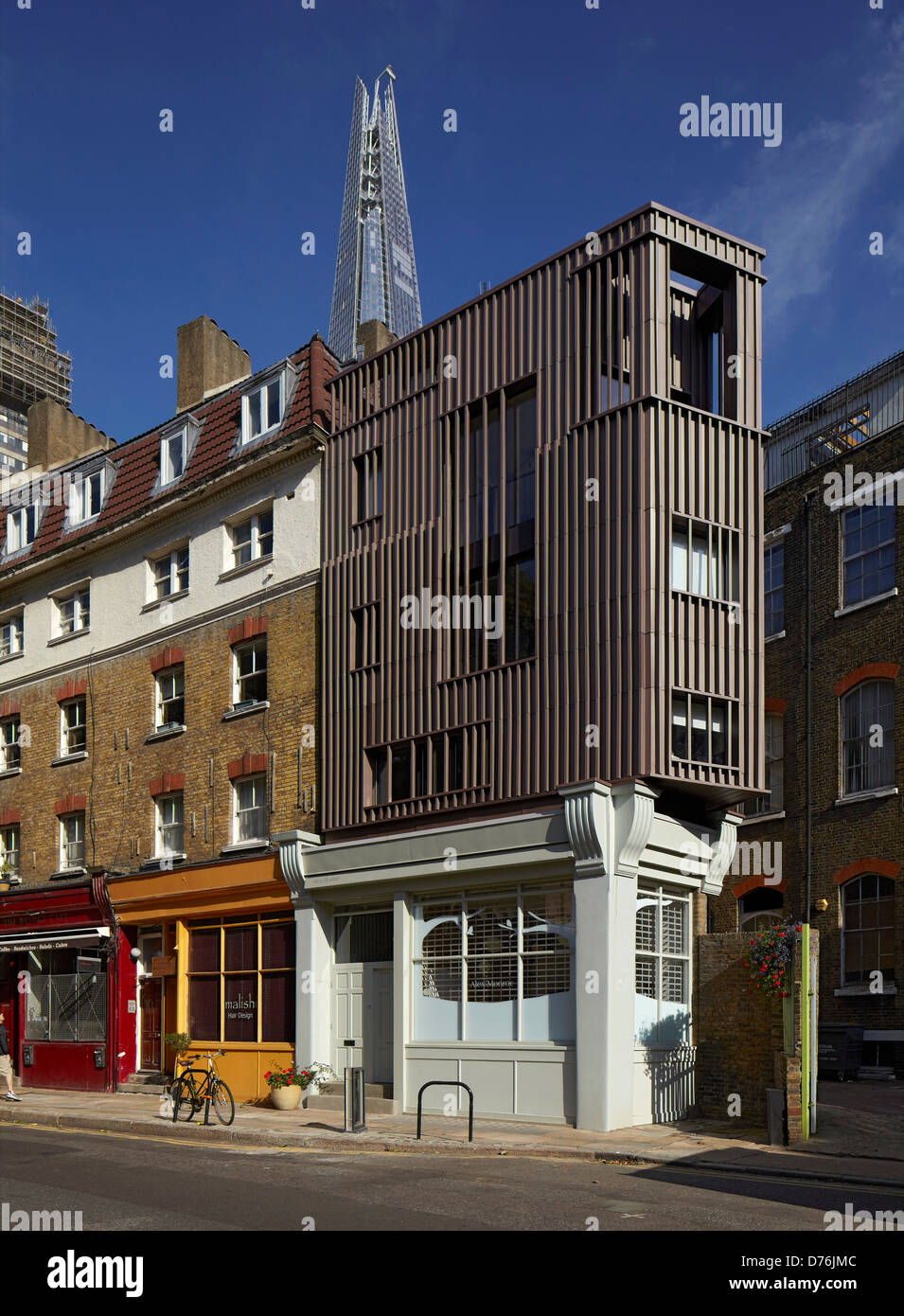 Alex Monroe Studio, Snowsfields, London, United Kingdom. Architect: DSDHA, 2012. - Stock Image