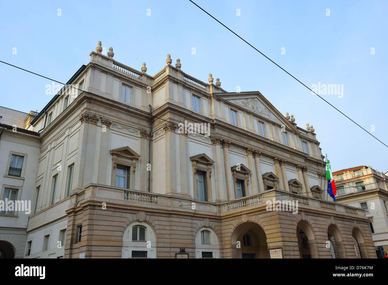 La Scala (Italian: Teatro alla Scala), a world-renowned opera house in Milan, Italy. - Stock Image