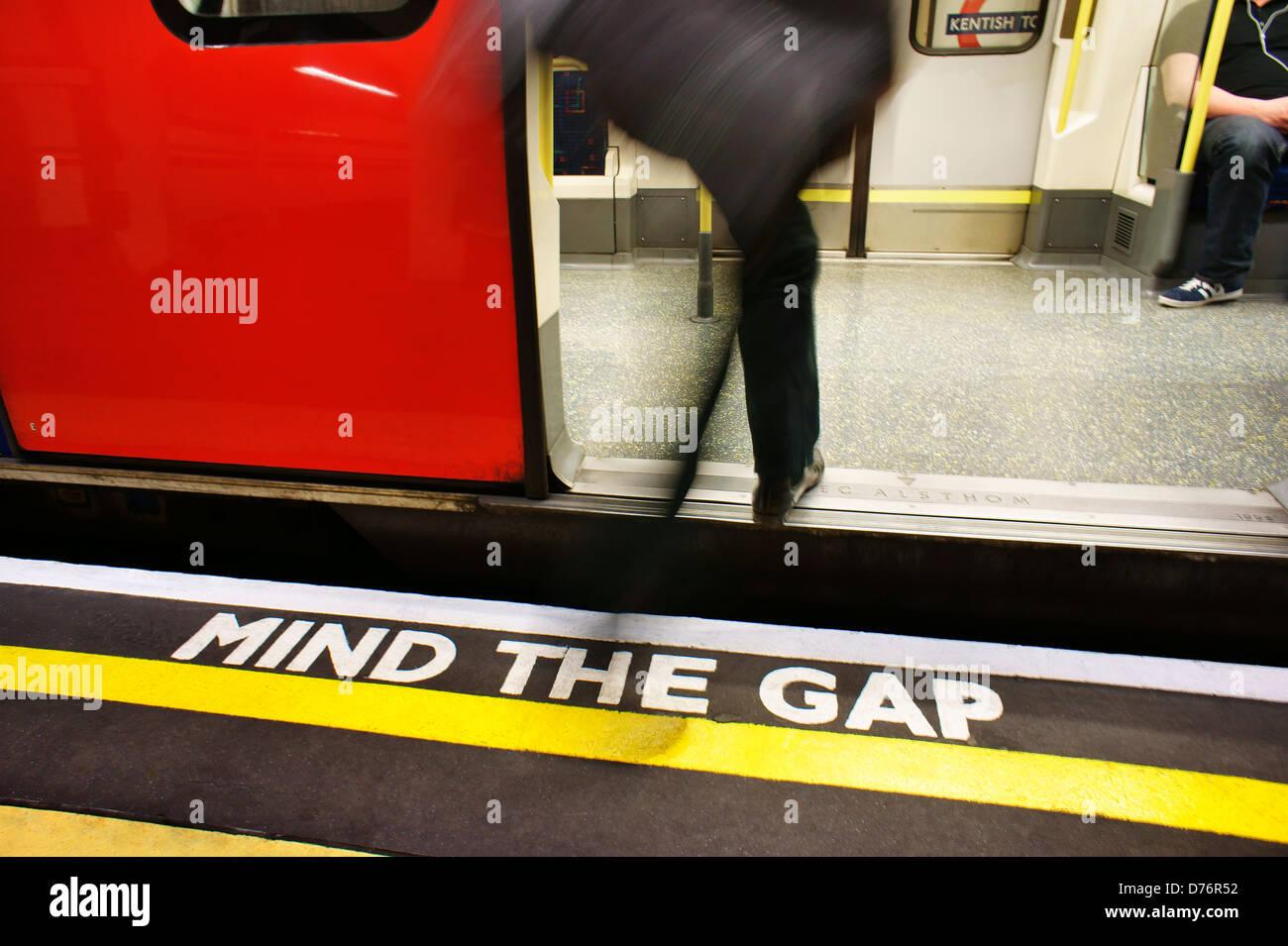 London Underground tube metro train station. England, UK - Stock Image