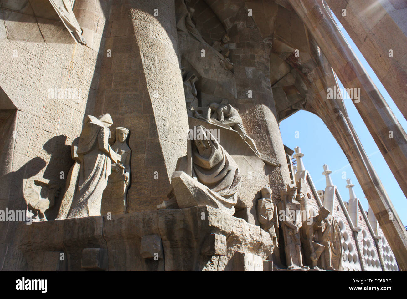 Sagrada Familia statues in Barcelona, Spain Stock Photo