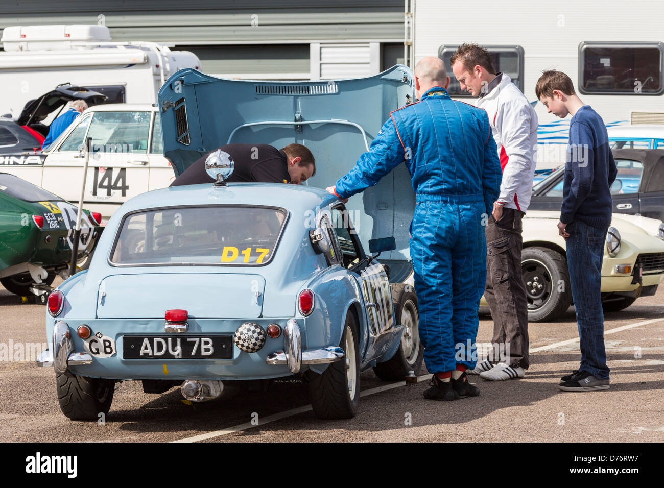 1964 Triumph Spitfire Mk1 Undergoes Preparations In The Paddock At