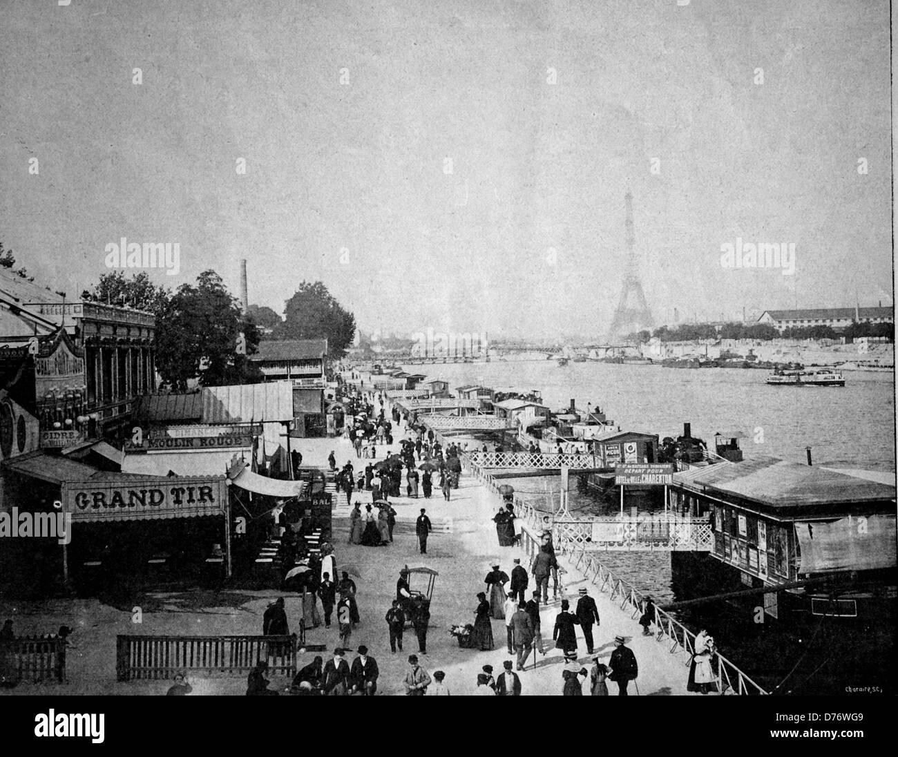 Early autotype of the Le Point du Jour, Paris, France, 1880 - Stock Image