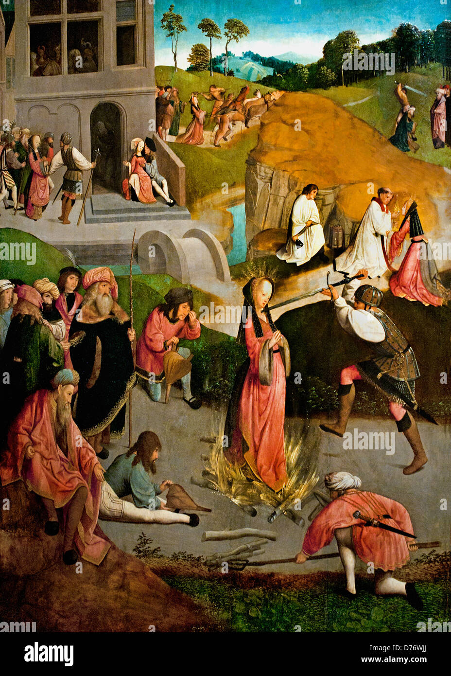 The Martyrdom of Saint Lucy 1490-1510 Master of the Figdor Deposition Haarlem or Amsterdam Dutch Netherlands - Stock Image