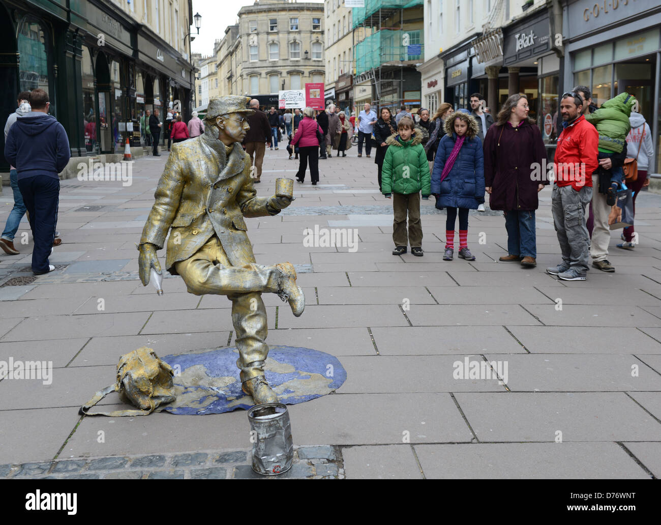 Street mime artist in Bath Uk - Stock Image