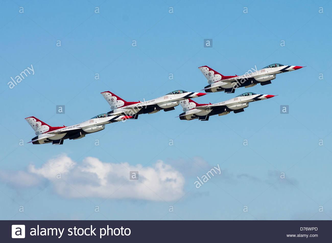 The Thunderbirds. Homestead AFB. Florida. USA - Stock Image