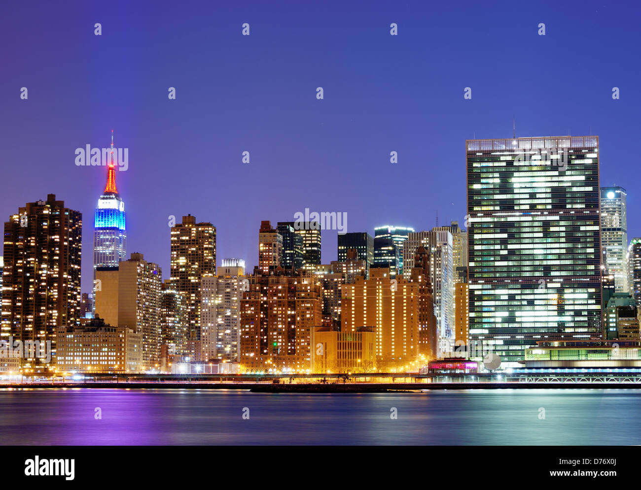 New York city famed skyline at Midtown Manhattan Stock Photo