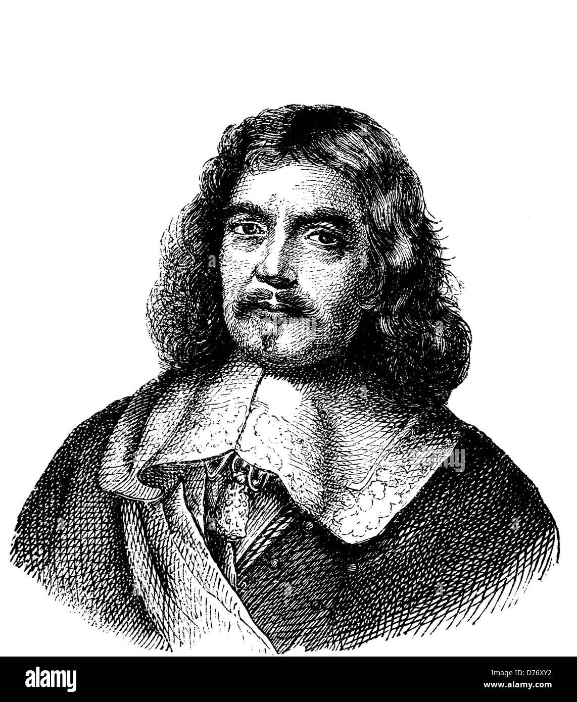 Henri de la Tour d'Auvergne, Vicomte de Turenne, 1555 - 1623, Duke of Bouillon and Marshal of France, woodcut - Stock Image