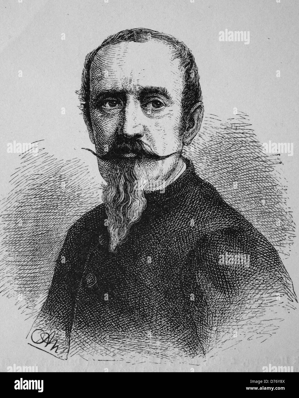 Horace Vernet, painter and lithographer, 1789 - 1863, historical woodcut, circa 1880 - Stock Image