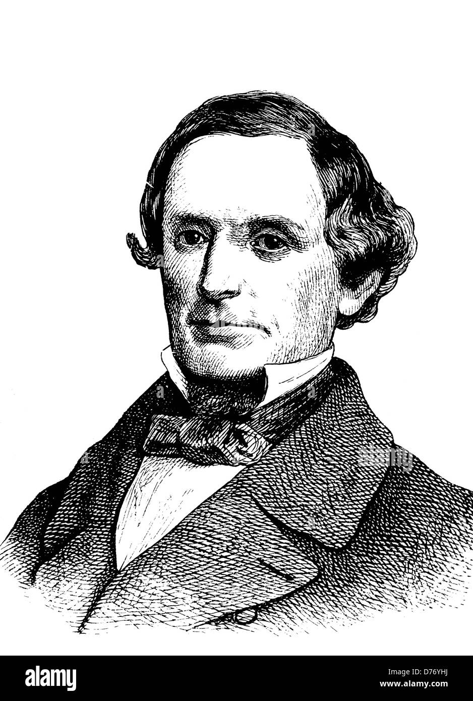 Jefferson Davis, 1808 - 1889, President of the Confederate States of America and leader of the South in the Civil - Stock Image