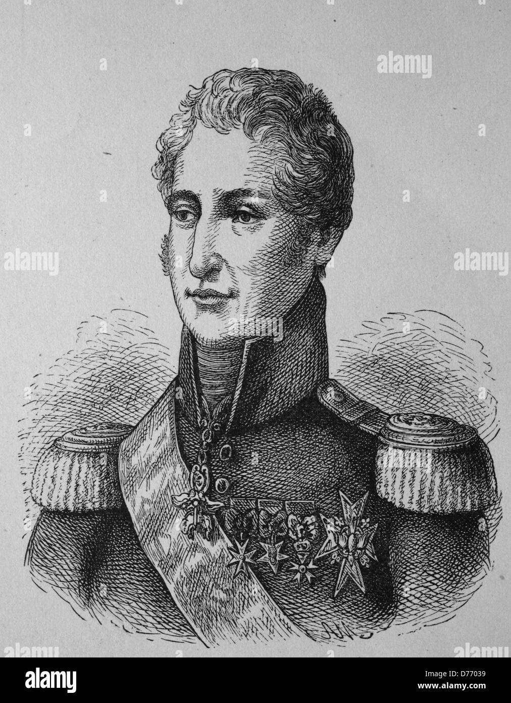 Charles X, Charles X Philippe, 1757 - 1836, last king of France and Navarre, woodcut from 1880 - Stock Image