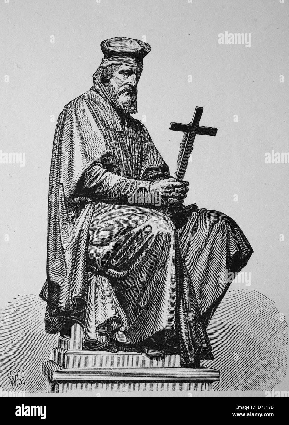Jan Hus, John Huss, 1369 - 1415, Christian reformer, founder of the