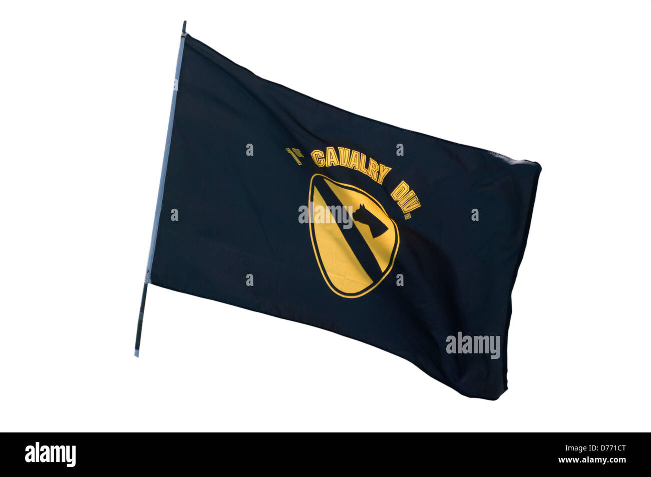 US Army 1st Cavalry Division Flag - Stock Image