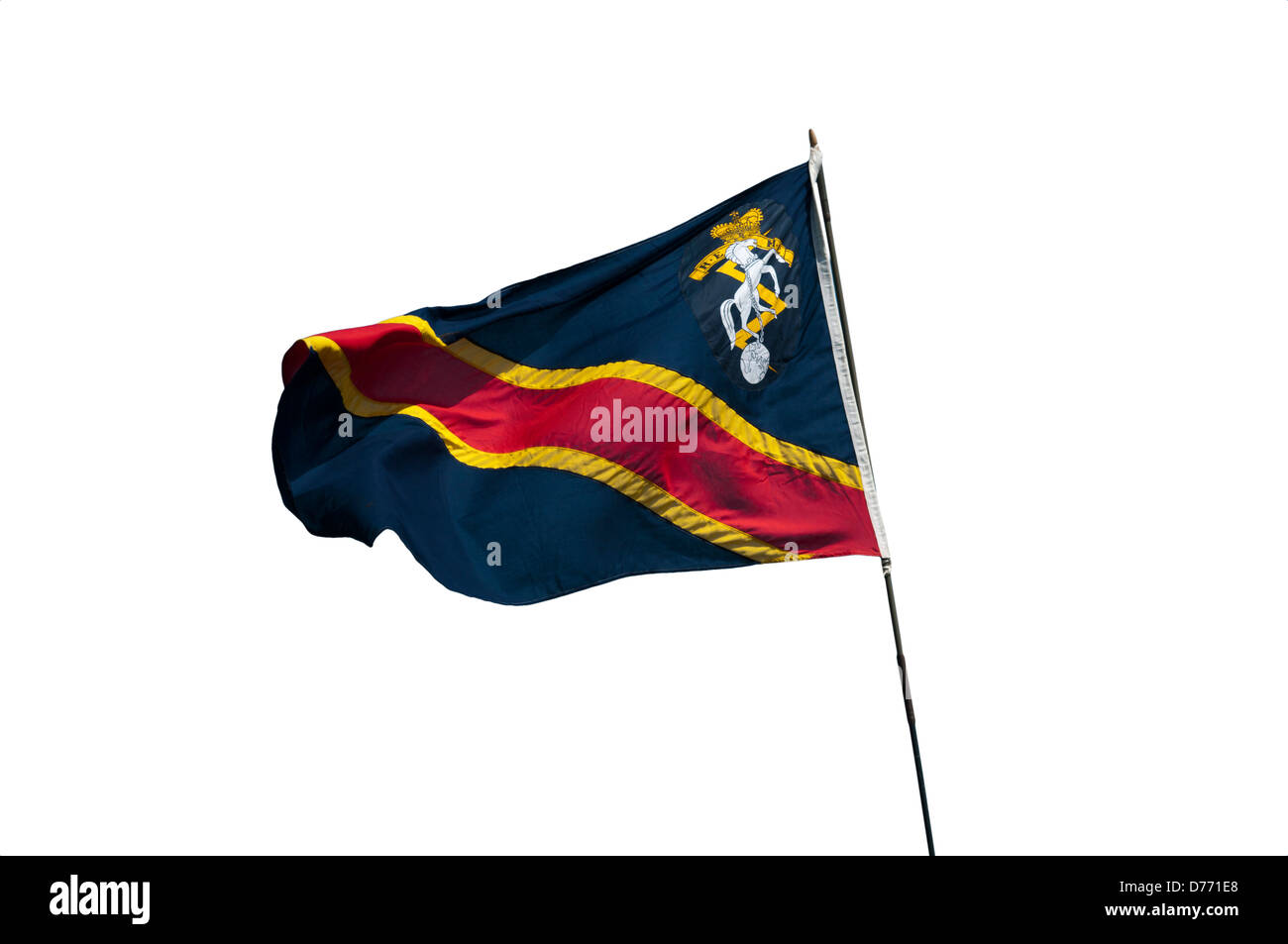 British Army REME Royal Electrical Mechanical Engineers Regimental Flag - Stock Image
