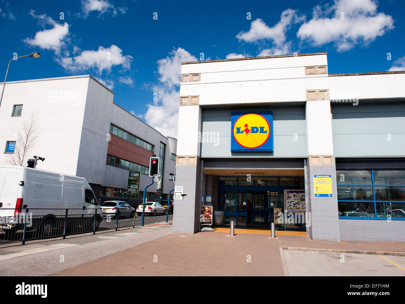 Lidl Store in Manchester(Ashton Under Lyne), UK - Stock Image