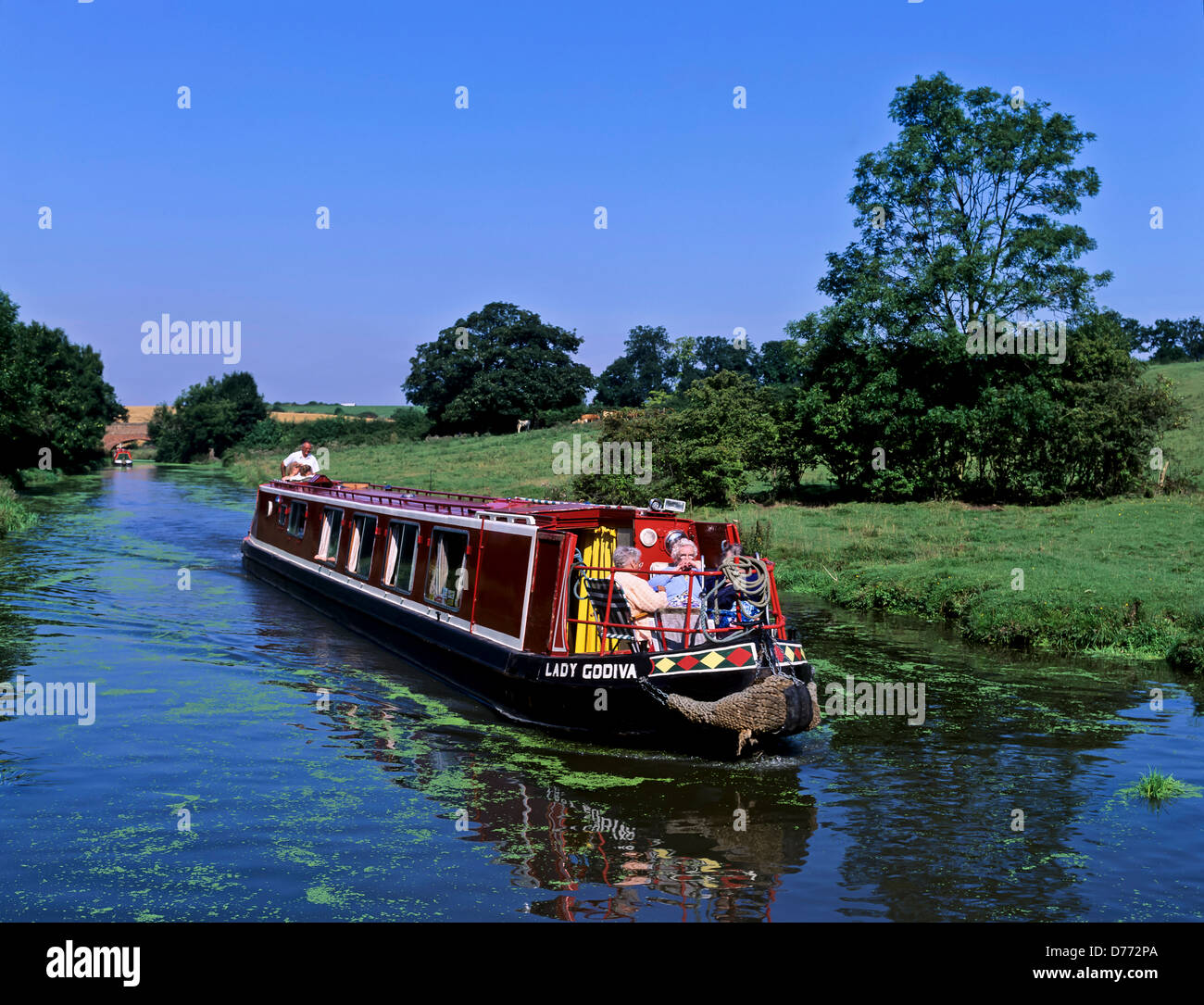 8684. Narrow boat on the Oxford canal, Warwickshire, England, UK, Europe - Stock Image