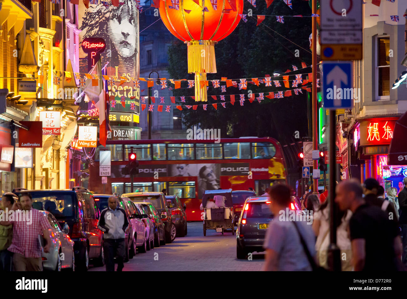 London, Great √ übritannien, Chinatown, the West End - Stock Image