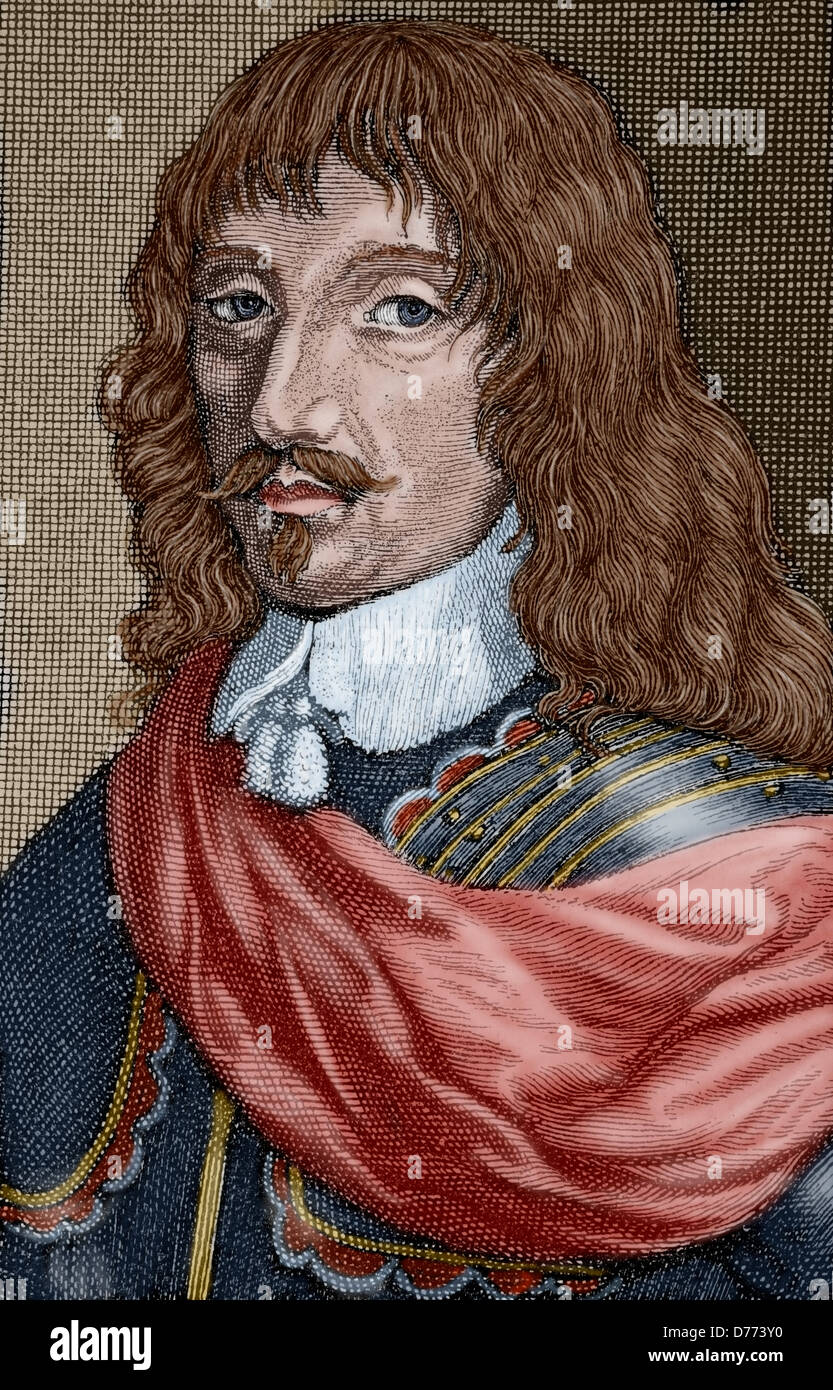 Charles IV (1604-1675). Duke of Lorraine. Facsimile of an anonymous engraving of the epoch. The Universal History, - Stock Image