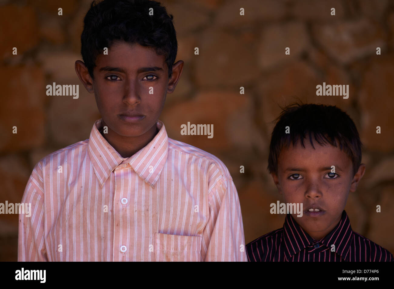 Portraits of two local boy - Stock Image