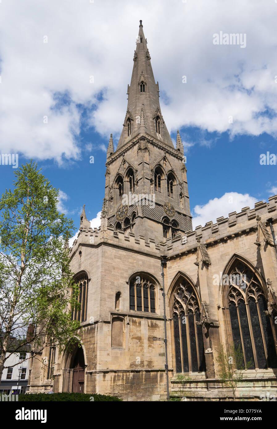 Newark Parish Church of St Mary Magdelene England UK - Stock Image