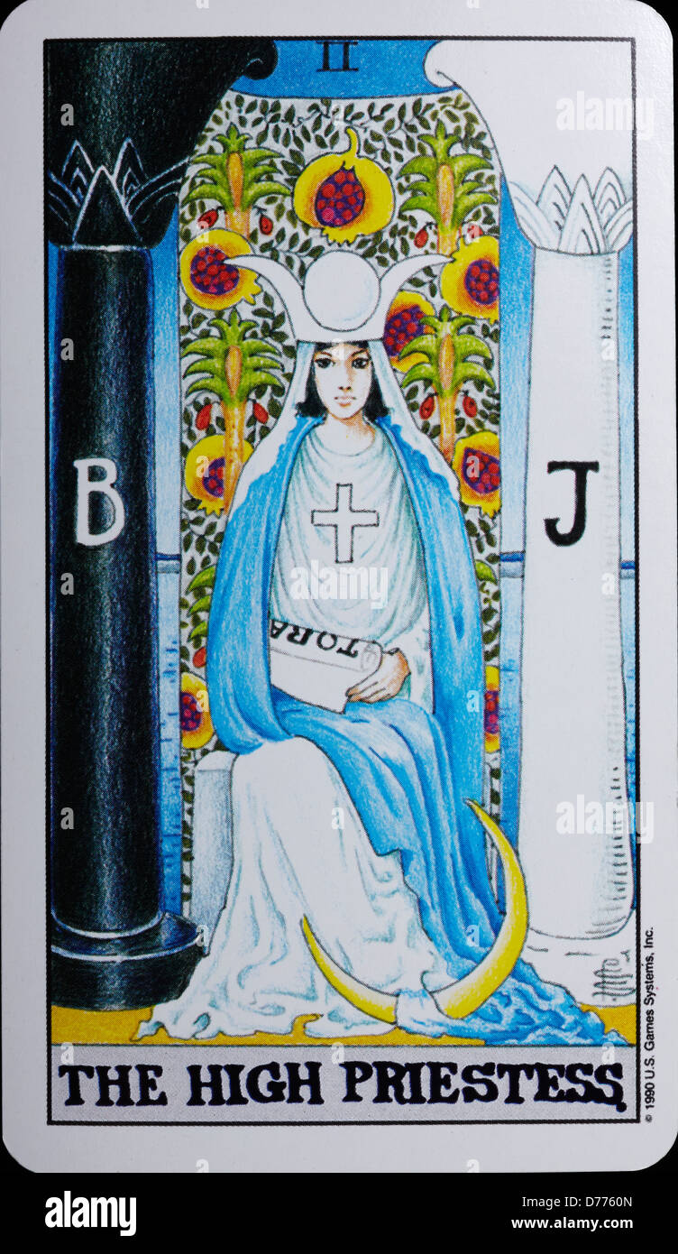 The High Priestess Tarot Card Stock Photos & The High