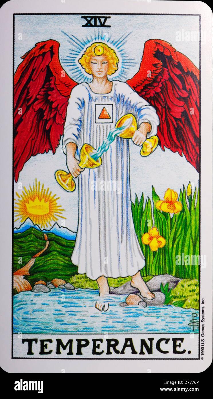 Tarot Card 'Temperance' Stock Photo: 56093038 - Alamy