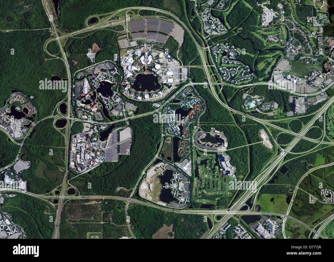 Disney World Florida Map.Aerial Photo Map Of Walt Disney World Lake Buena Vista Florida