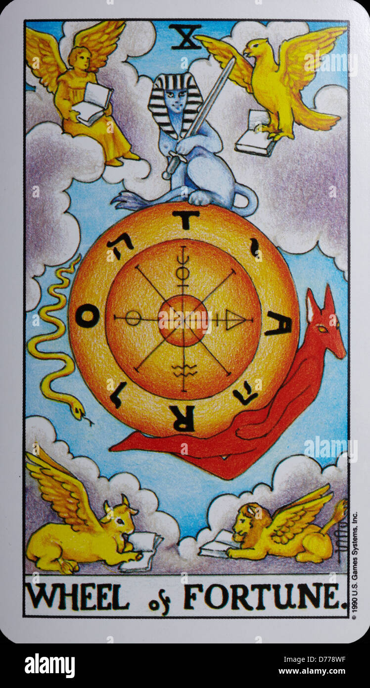 Tarot Card 'Wheel Of Fortune' Stock Photo: 56094347