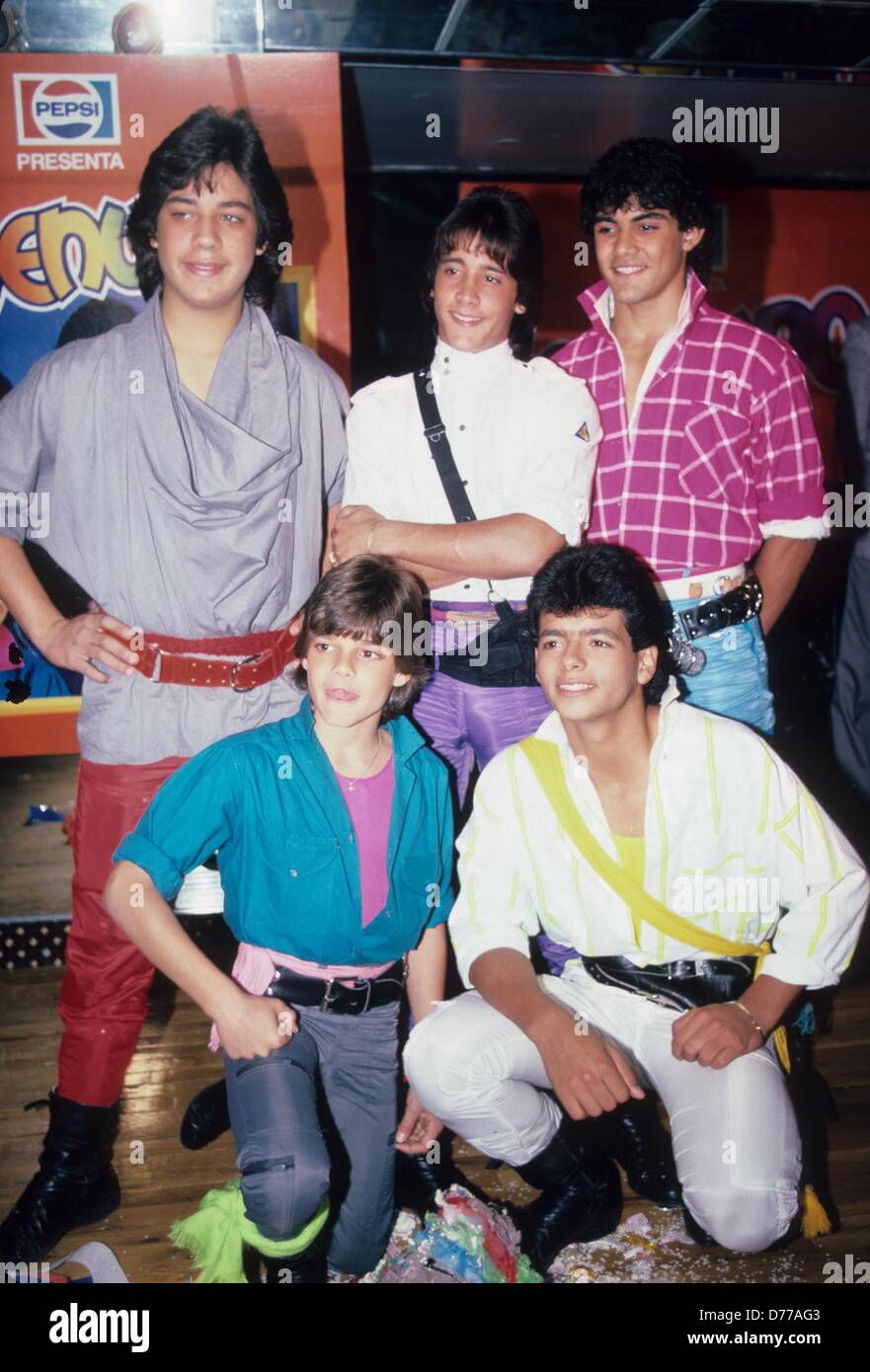 MENUDO.Puerto Rican music group.Supplied by Photos, inc..Ricky Stock Photo - Alamy