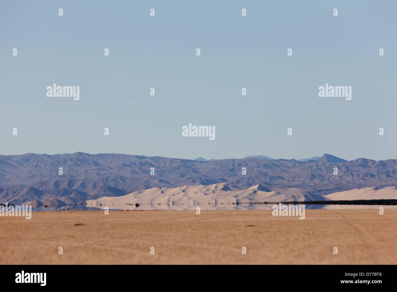 Sand Dunes Inferior Mirage - Stock Image