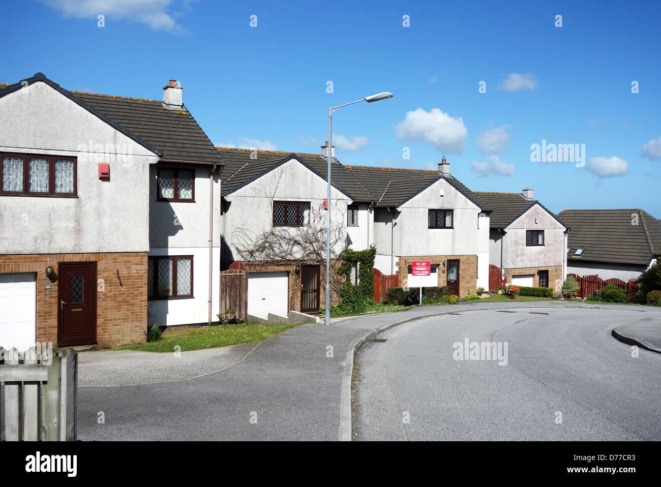 Detached houses suburban housing estate uk - Stock Image