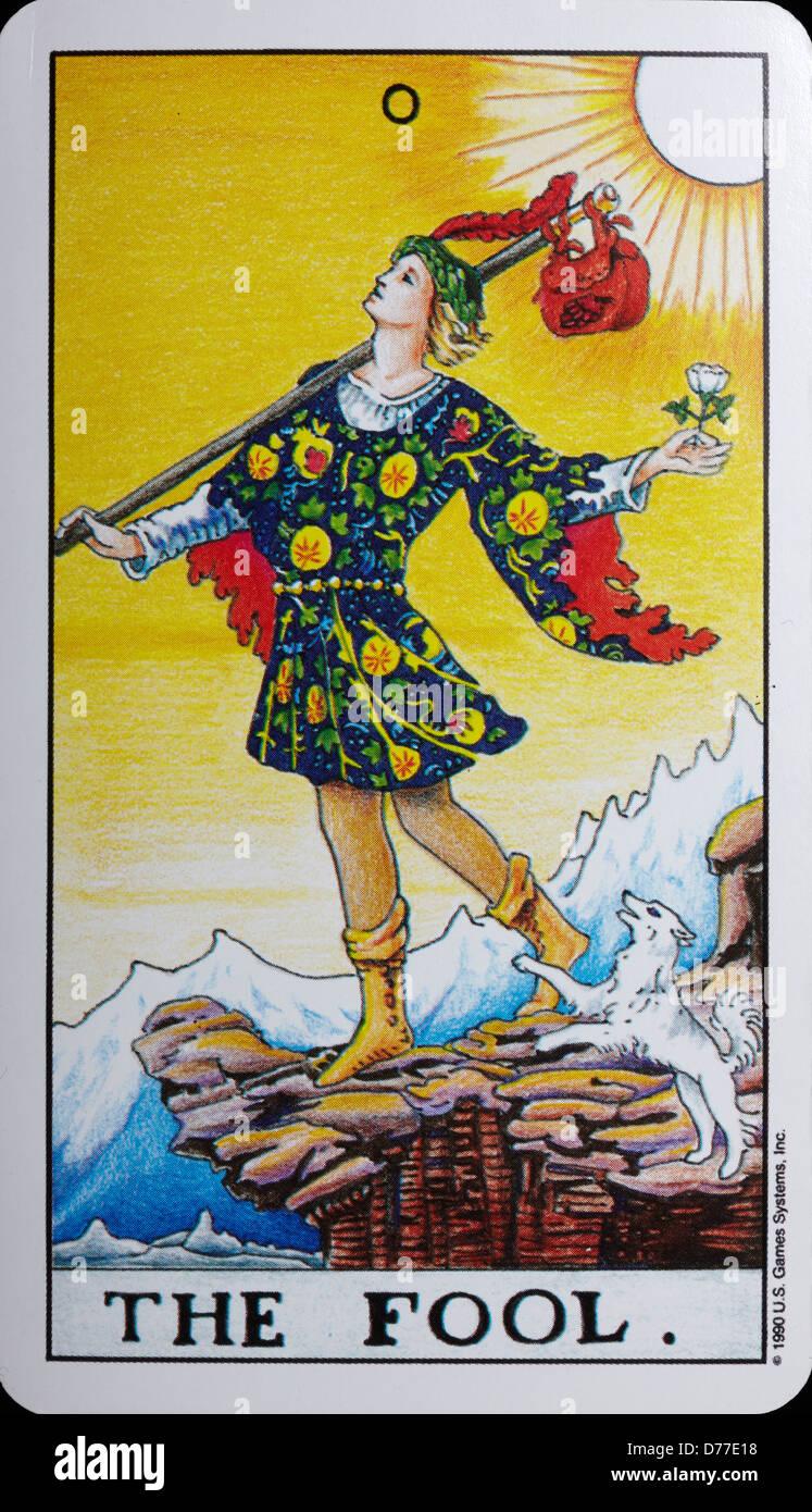 Tarot Card 'The Fool' - Stock Image