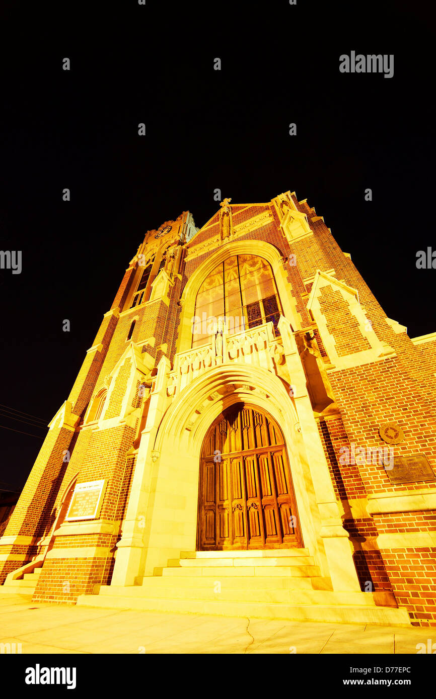 Low angle view Holy Name Mary Catholic Church Algiers Point New Orleans Louisiana USA - Stock Image