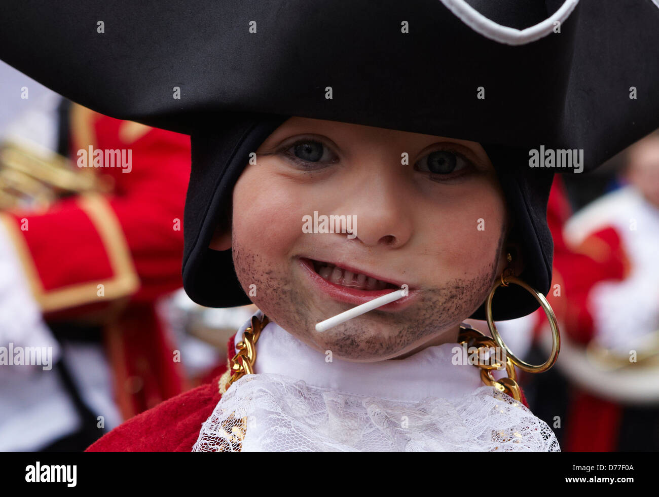 Belgium Walloonia Liege province Stavelot city laetare carnival child's portrait - Stock Image