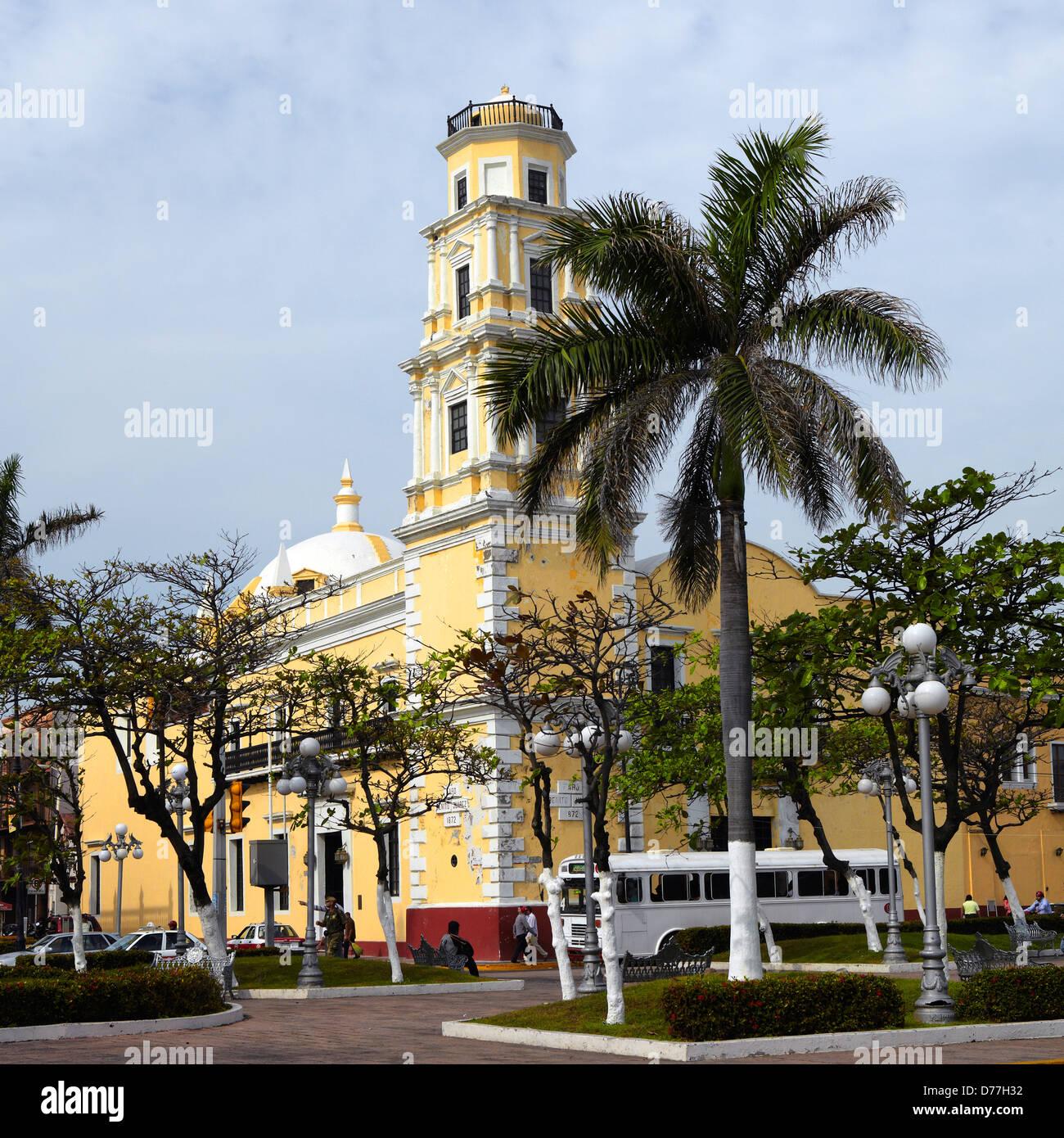 Mexico Veracruz city old lighthouse Benito Juarez - Stock Image