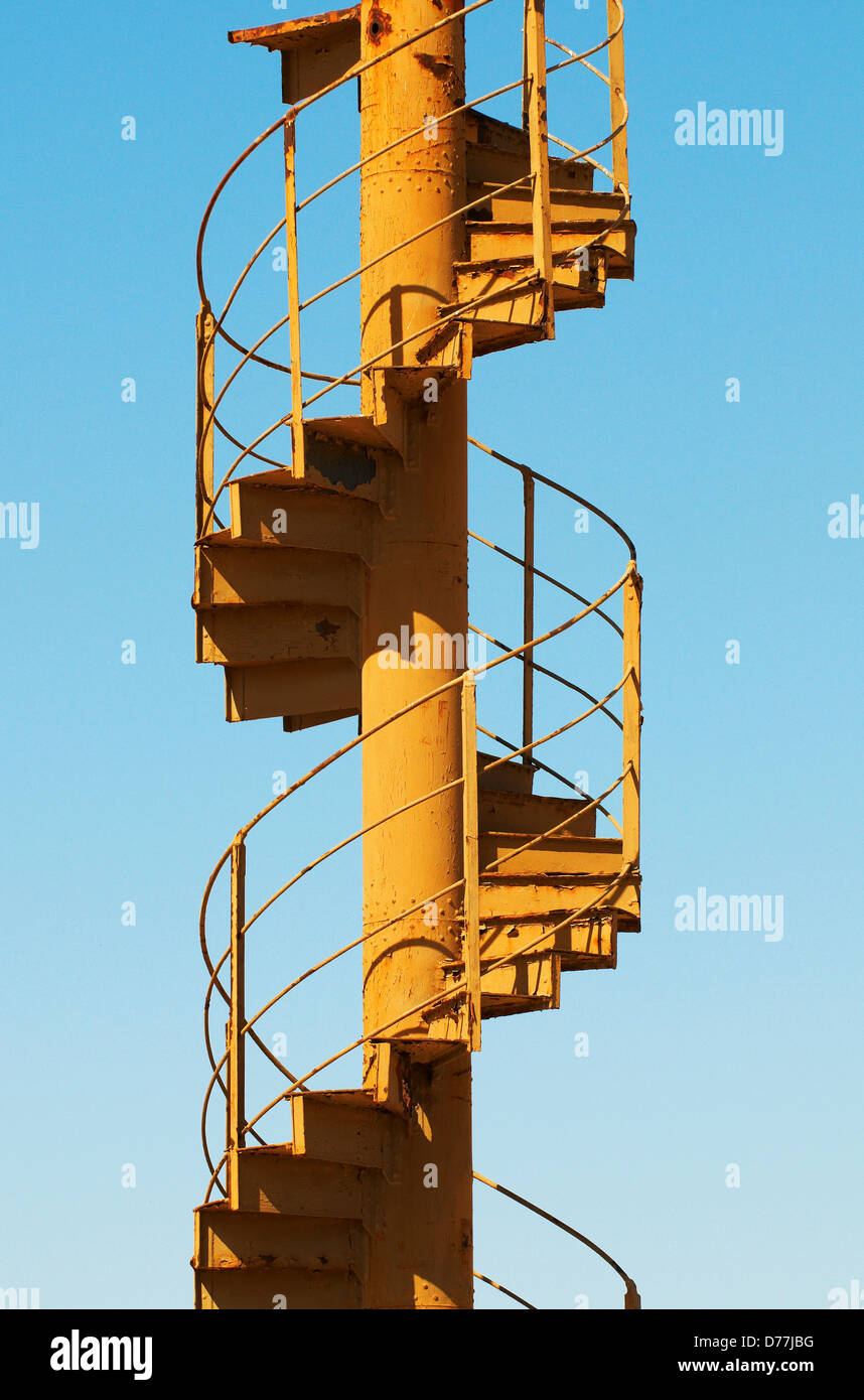Section original stairway Eiffel Tower on display at town Felicity California USA - Stock Image
