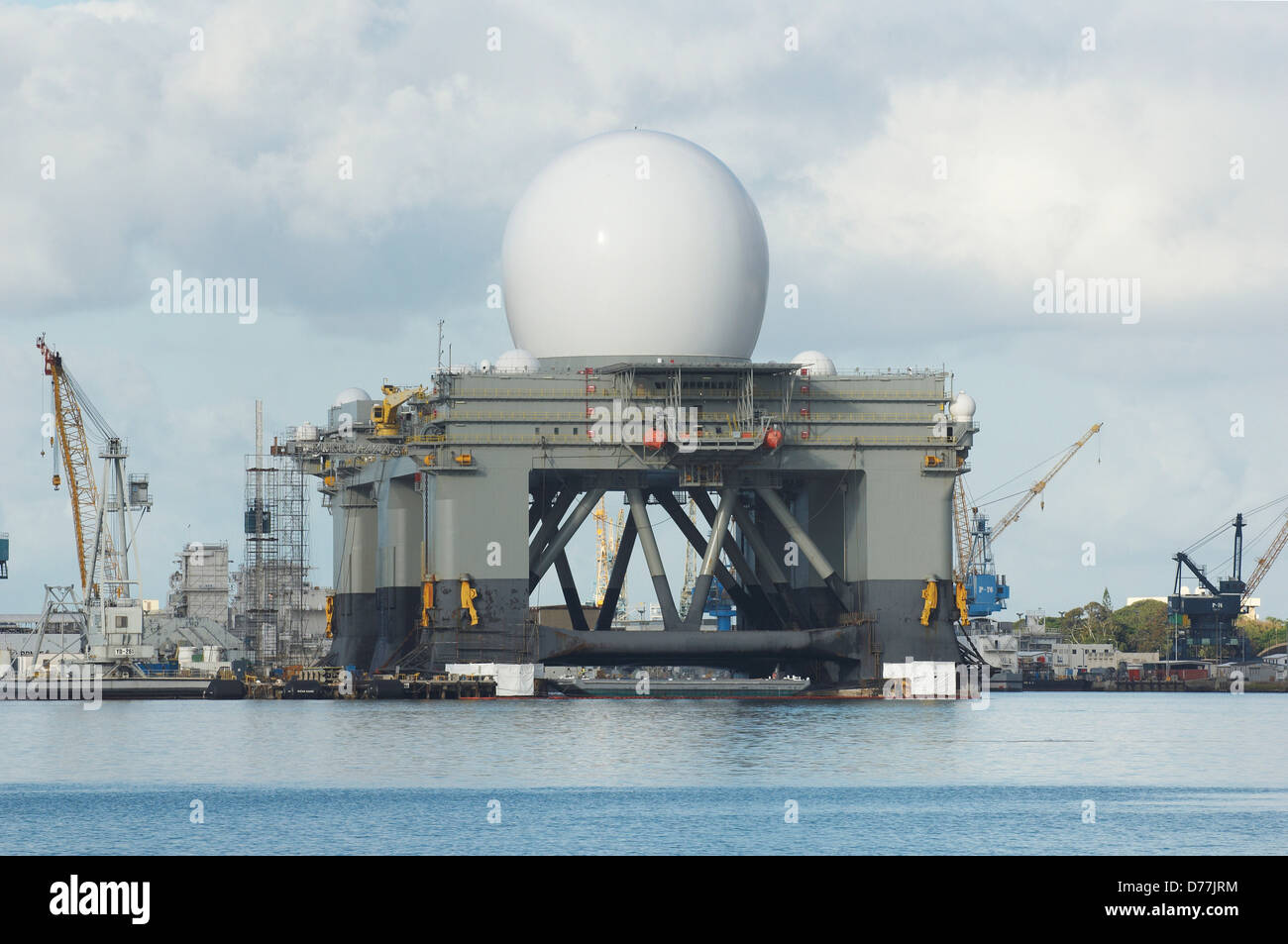 Self Propelled Cart >> Sea based X-Band Radar component US Ballistic Missile Defense system Stock Photo: 56102136 - Alamy