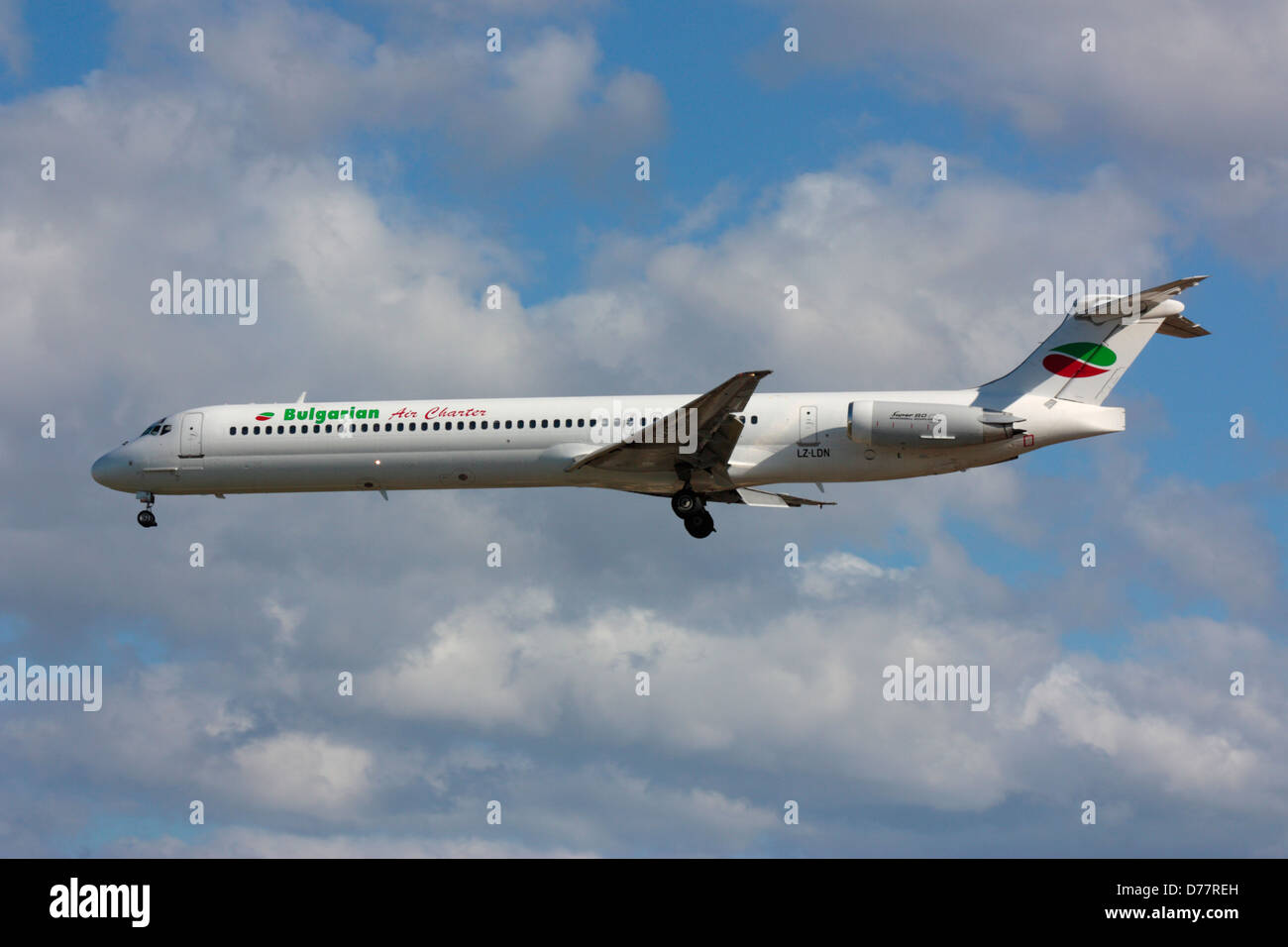 McDonnell Douglas MD-82 of Bulgarian Air Charter - Stock Image