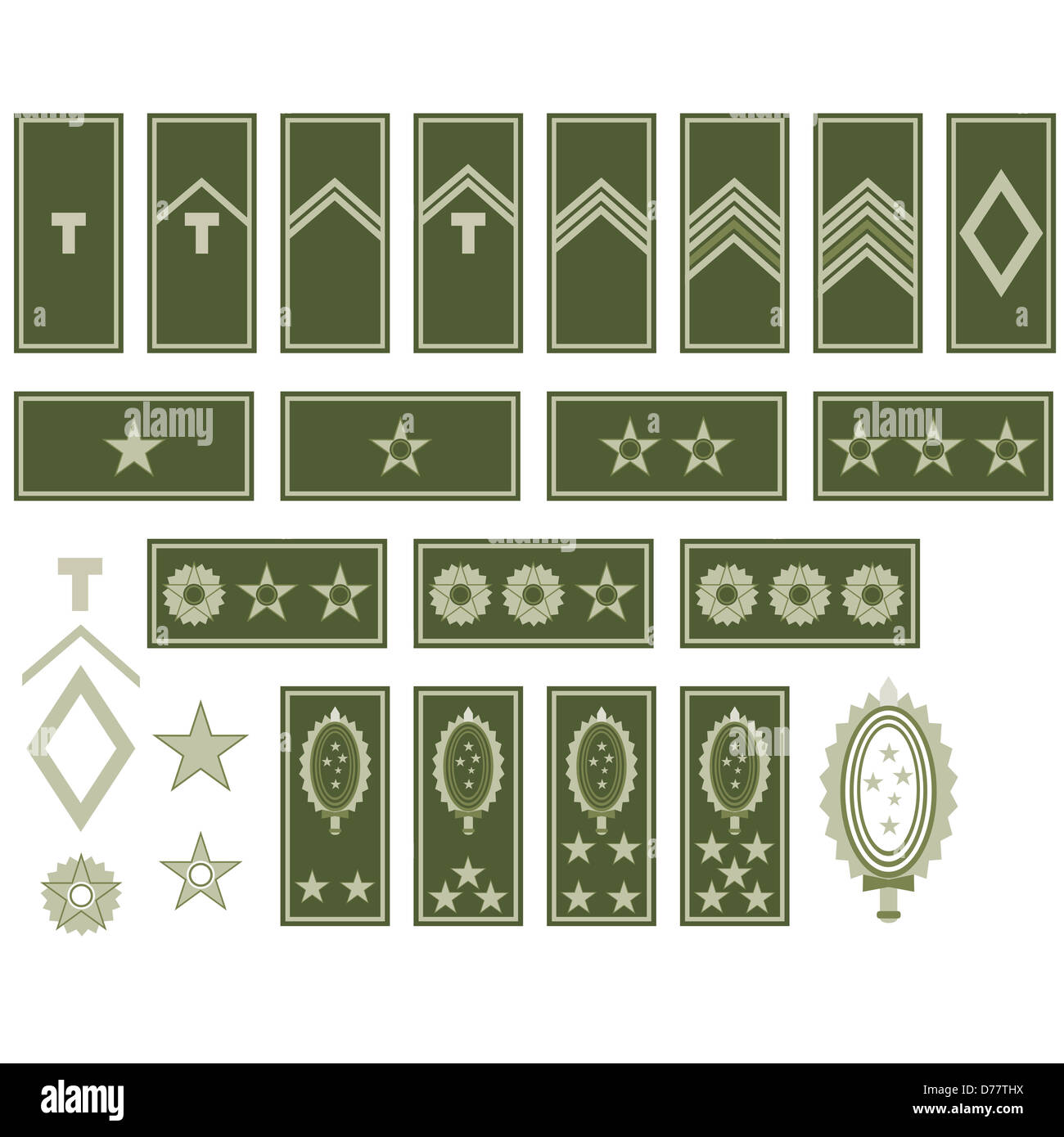 Military Rank Cut Out Stock Images Pictures Alamy