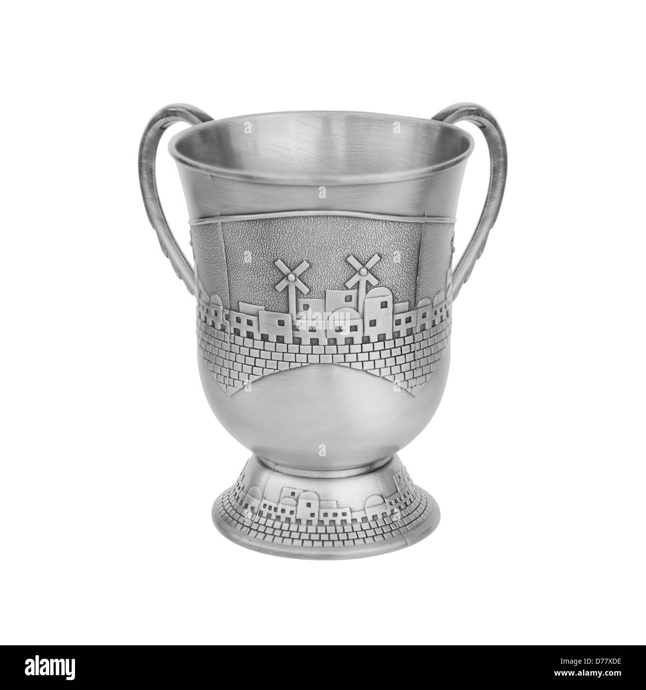 A netilat yadayim wash cup for a ritual washing hands in Judaism - Stock Image