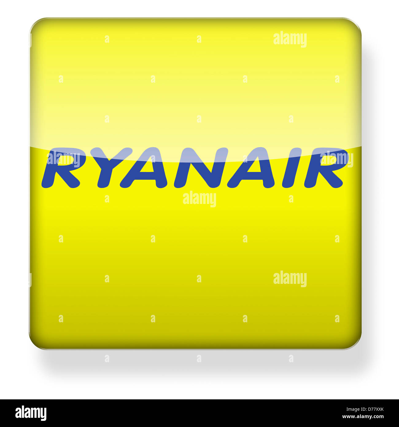 Ryanair logo as an app icon. Clipping path included. - Stock Image