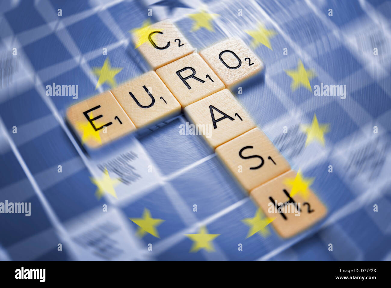 Stroke eurocrash on a play board Stock Photo