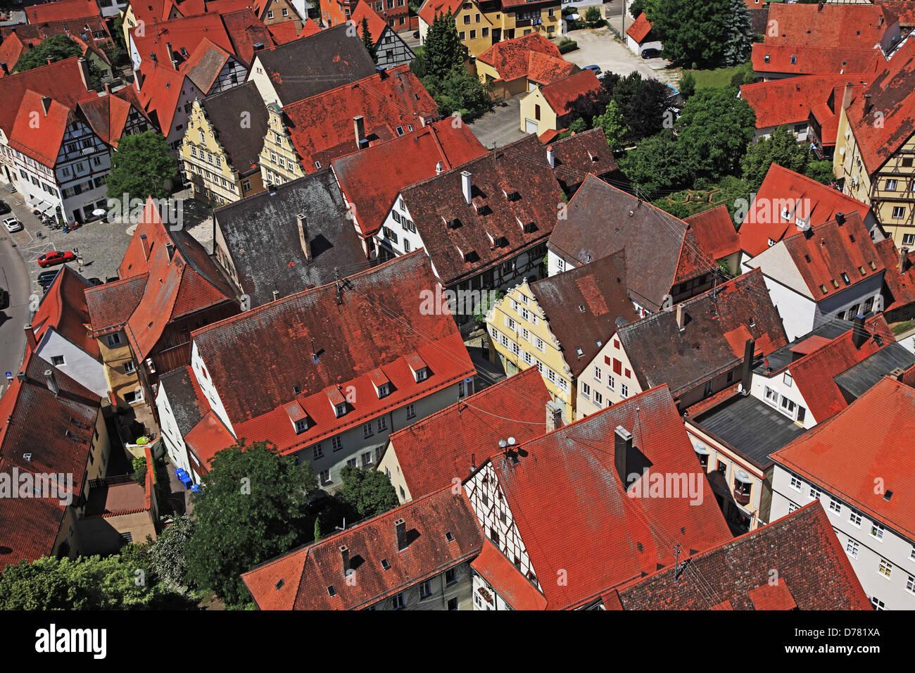 Germany, Bavaria, Romantic Road, Nördlingen - Stock Image