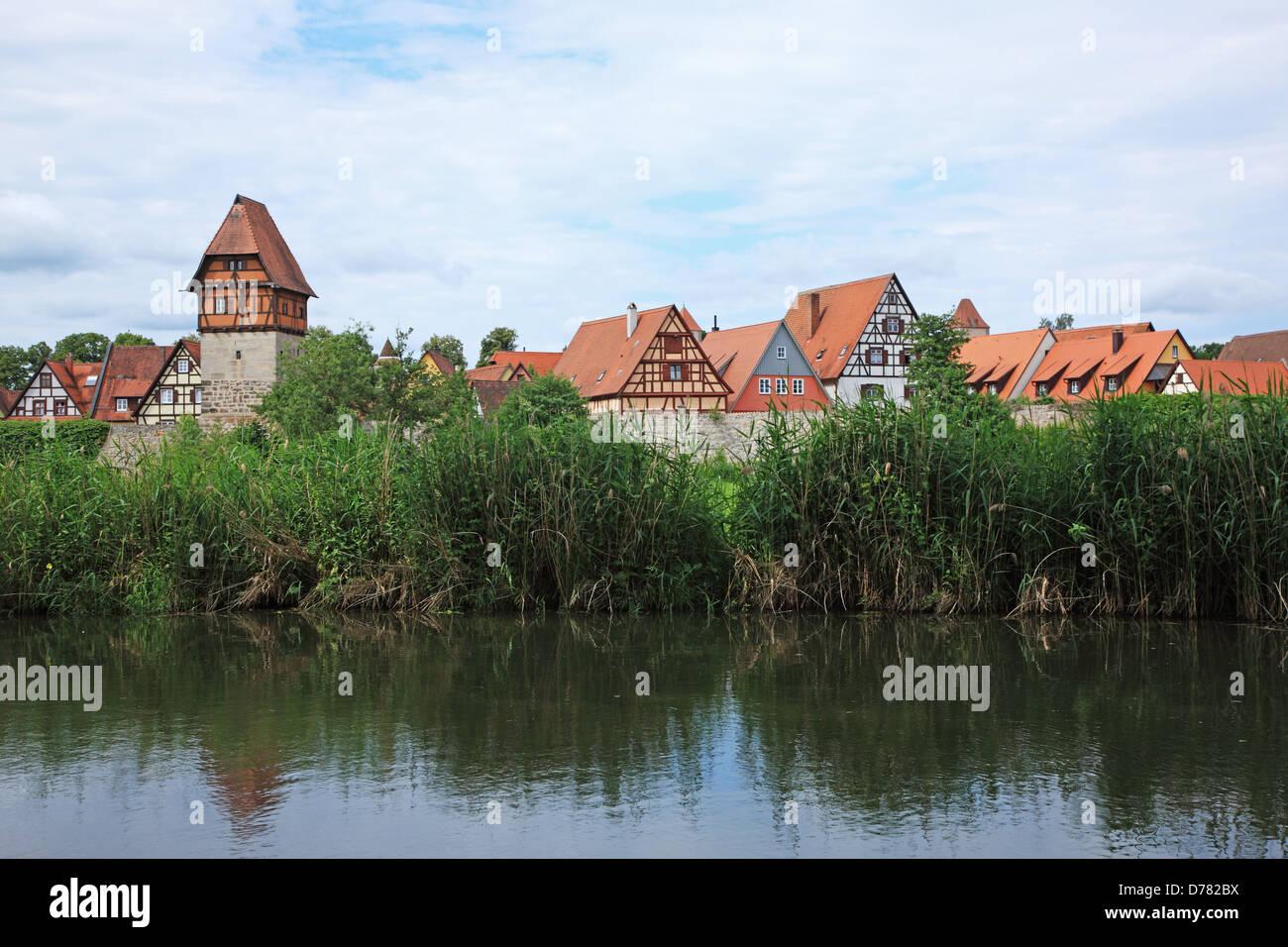 Germany, Bavaria, Romantic Road, Dinkelsbühl - Stock Image